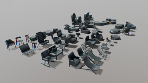 furniture / chairs set 01 / part 2
