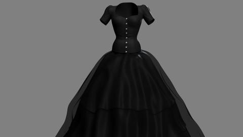 Victorian Gothic Dress V3