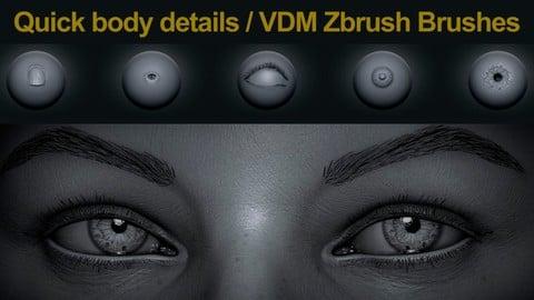 Quick body detail - VDM ZBrush Brushes