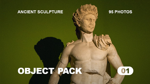 Obj Pack 01 / Ancient Sculpture / Free reference pack