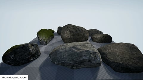 Photorealistic Rocks - UE4