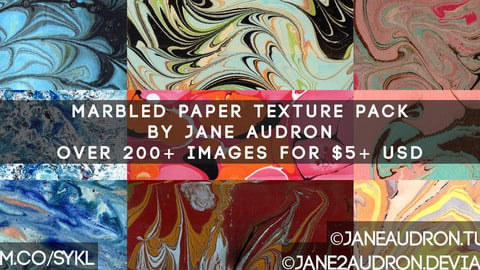200+ Marbled Paper Texture Pack