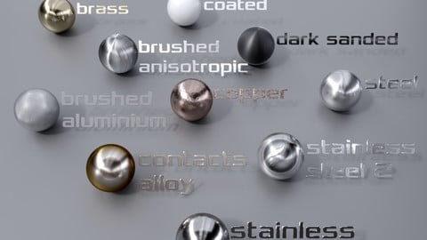 Physically - correct metal materials for Blender Cycles