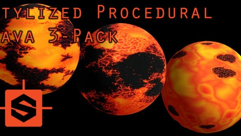Animated Procedural Stylized Lava Substance - 3 pack