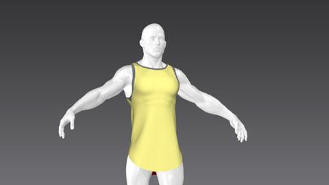 Clothes for Marvelous Designer: Long Vest Muscular for Man