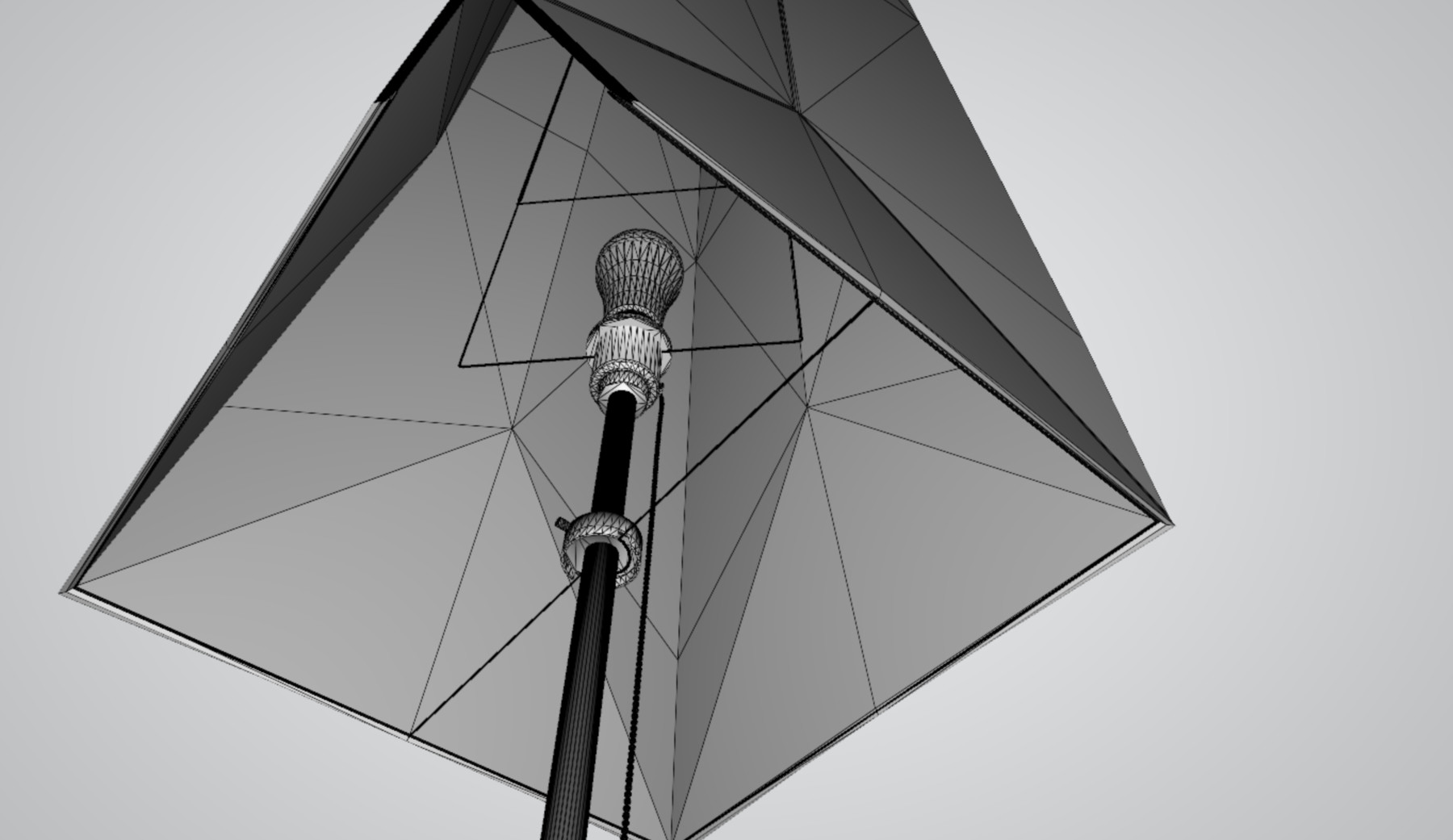 Modern Two Piece Paper Lamp Set (PBR + GLTF2 0) 9 Formats