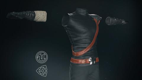 Male Ninja Outfit -3D Model