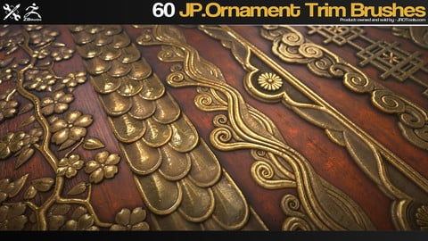 ZBrush - 60 JP.Ornament Trim Brushes