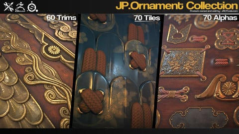 ZBrush/SP - JP.Ornament Alpha/Trim/Tile Collection