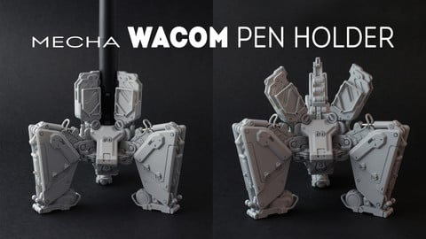 Mecha Wacom pen Holder