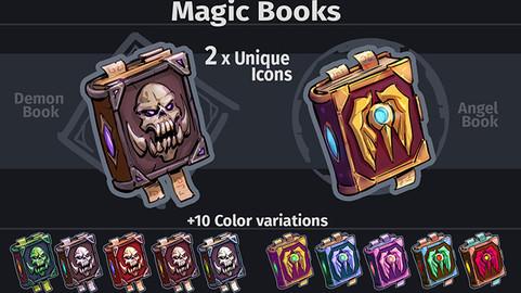 Magic Spell Books Icons