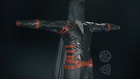 Male Assassin Outfit 2-3D Model