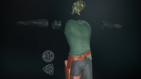 Male Gangster Outfit -3D Model