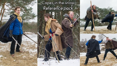 Capes in the snow, reference pack.