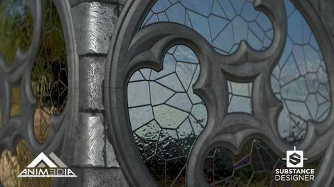 Gothic Round Window - 100% Substance Designer - Vierschweif