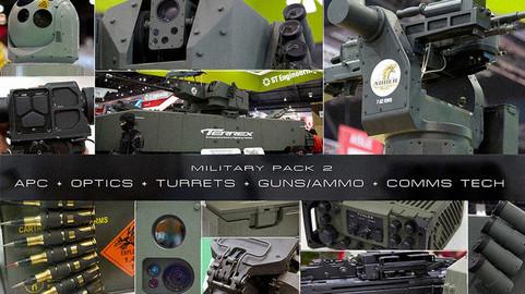 Military Pack 2:  APC + OPTICS + TURRETS + GUNS/AMMO + COMMS TECH