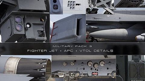 Military Pack 3: Fighter Jet + APC + VTOL Details
