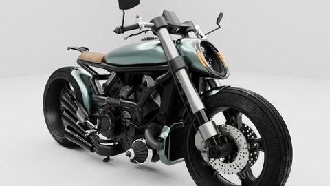Cafe Racer Motorbike Ducati based