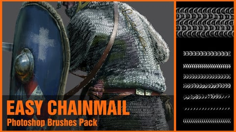 Easy Chainmail Photoshop Brushes Pack