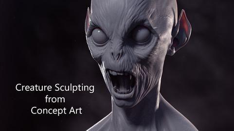 Creature Sculpting from Concept Art