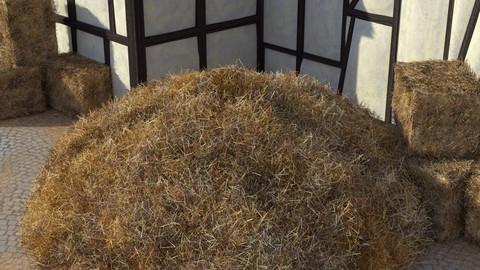 Staw heap, Straw bales