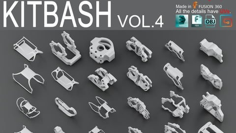 Hard Surface KitBash vol 4