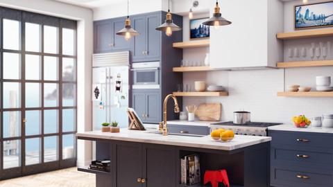 Contemporary Kitchen 3D Model