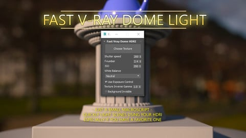 Fast V-ray Dome Light