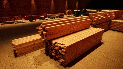 Construction Pack Vol. 1 - Lumber, Rebar, Warehouse Props