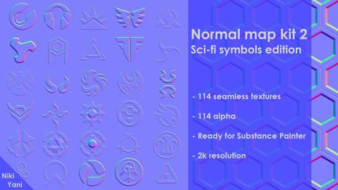 Normal map kit 2 Sci-fi symbols edition