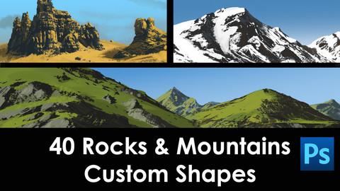 Rocks & Mountains Custom Shapes Set