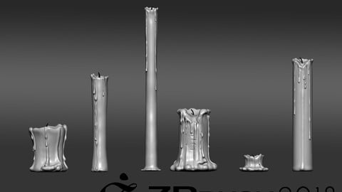candles brush for zbrush2018