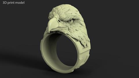 Eagle vol1 ring 3D print model