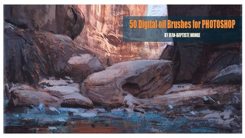 PACK 2 - 50 Oil DIGITAL PAINTING BRUSHES for Photoshop CC  (Product already see on GUMROAD)