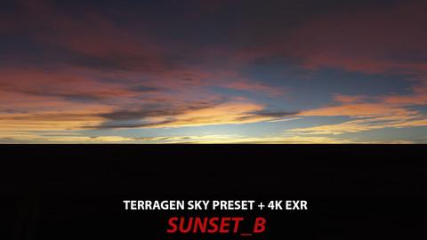 Terragen 4 sky preset -- SUNSET_B