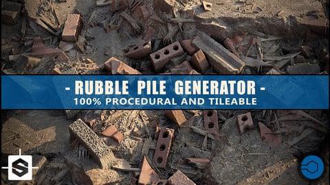 Rubble Pile Generator  + 4k textures