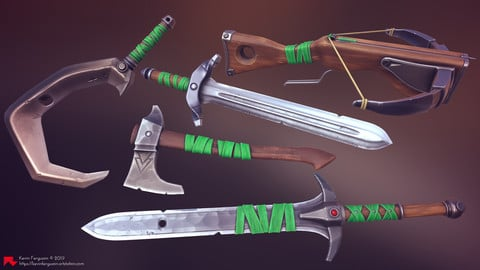 Stylized Weapon + Material Pack