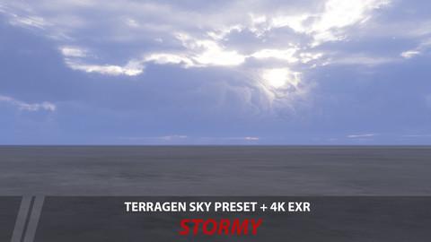 Terragen 4 sky preset -- Stormy