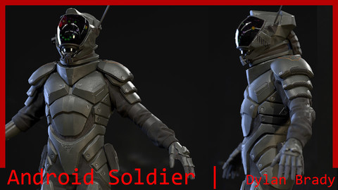 Android Soldier Character