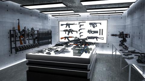Weapons Storage Room 3D Interior