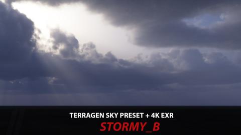 Terragen 4 sky preset -- Stormy_B
