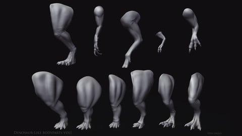 Dinosaur-like Bodyparts VOL01