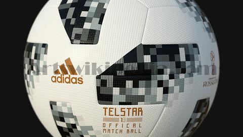 3D Telstar 18 2018 world cup