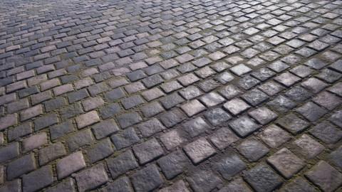 Procedural cobblestone material