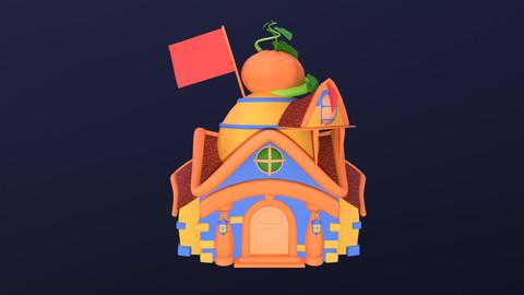 Asset - Cartoons - Background- House 03 - 3D Models