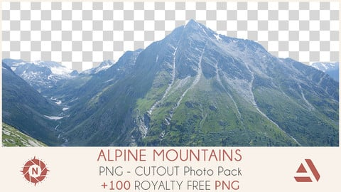 PNG Photo Pack: Alpine Mountains