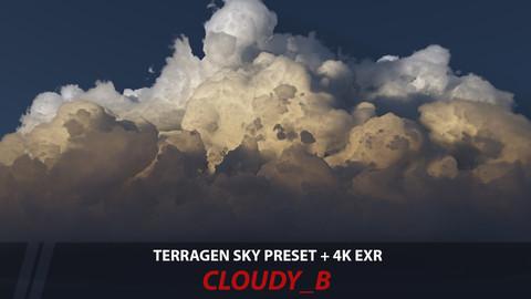 Terragen 4 sky preset -- Cloudy_B
