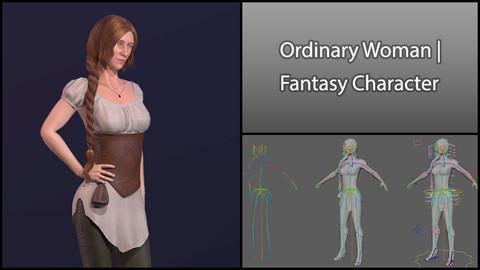 Ordinary Woman - Rigged Fantasy Character Asset