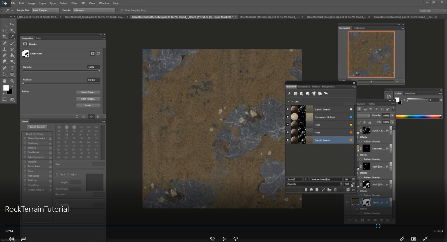 Tyler Smith - Terrain Tile Texture and Rock Game Asset