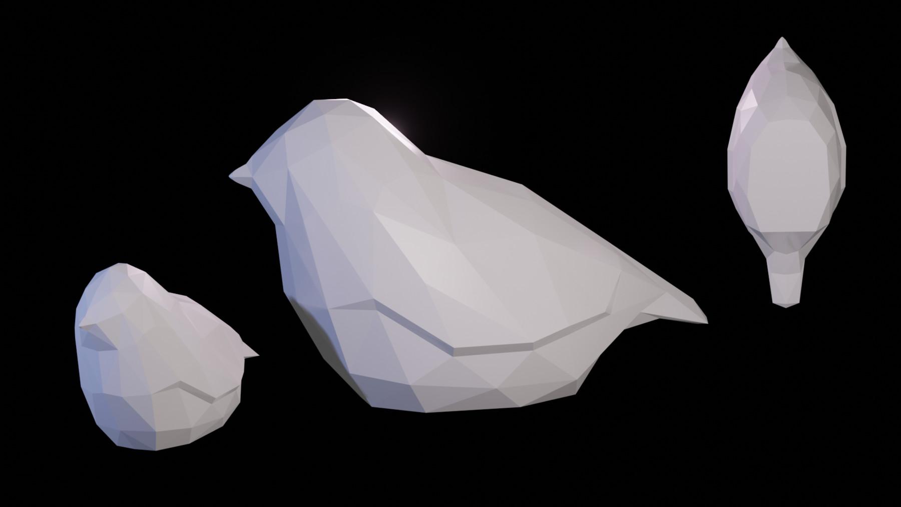Michael Rhodes - Low Poly Bird - 3D Print Ready